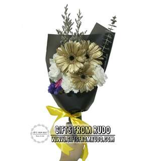 Gold Gerbera Bouquet