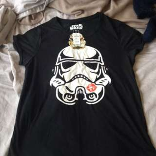 Ladies Size L Jay Jays Star Wars Stormtrooper Shirt