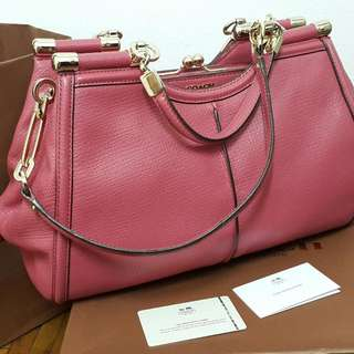 Coach Pink Leather