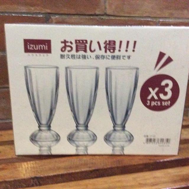 3 Piece Soda Fountain Glasses