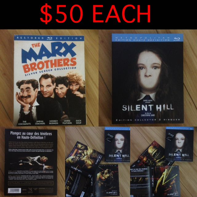 $50-$60 Blu-ray Box Set's, Complete Collections, Mad Men, HBO, Horror, Rare, Marx Brothers