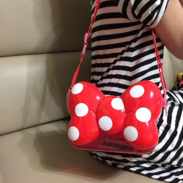 東京迪士尼帶回,米妮蝴蝶結爆米花桶
