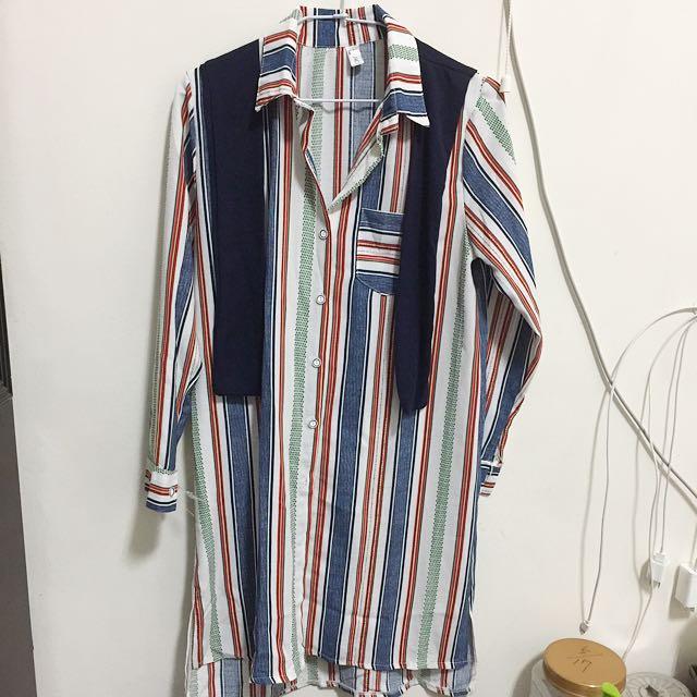 全新襯衫洋裝