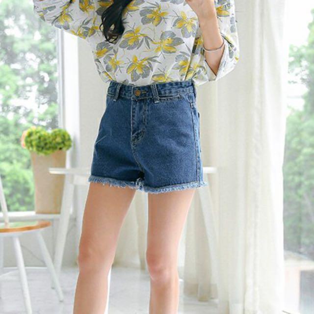 🆕 High Waist Denim Shorts