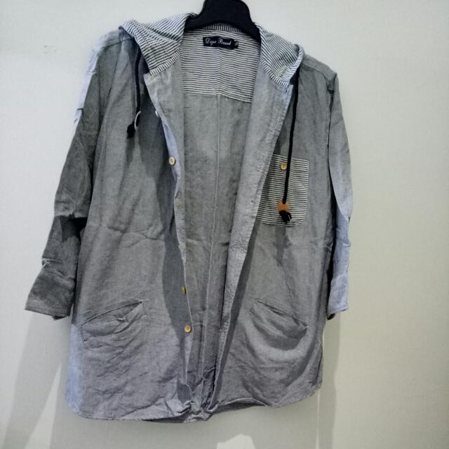 連帽七分袖休閒衫 XL