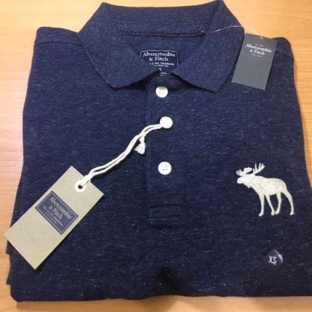 【Abercrombie & Fitch】Polo衫 Slim Fit AF 短袖 麋鹿      美國 A&F店家購入_全新商品_正品