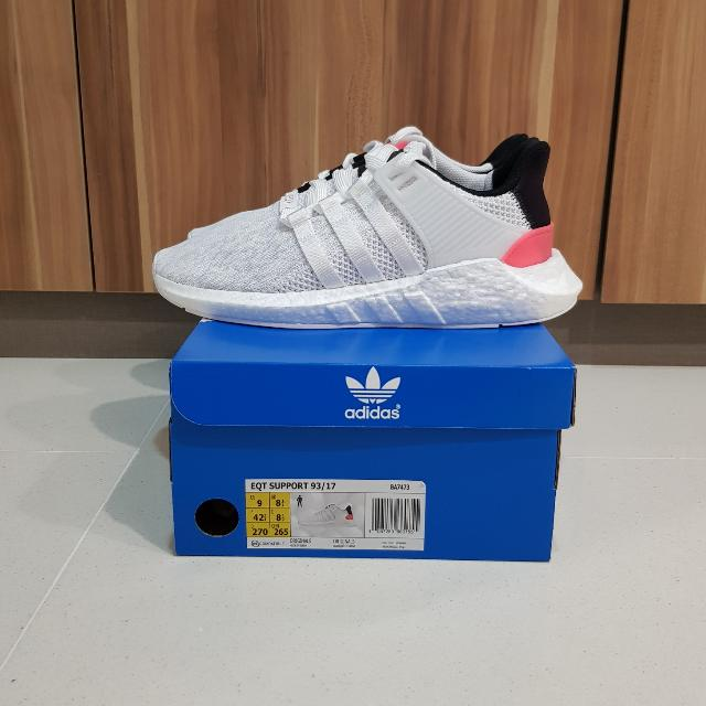 Adidas EQT Boost 93 17 White Turbo Red US9 UK8.5 b4284acee