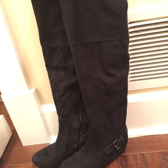 Aldo Black Over The Knee Boots