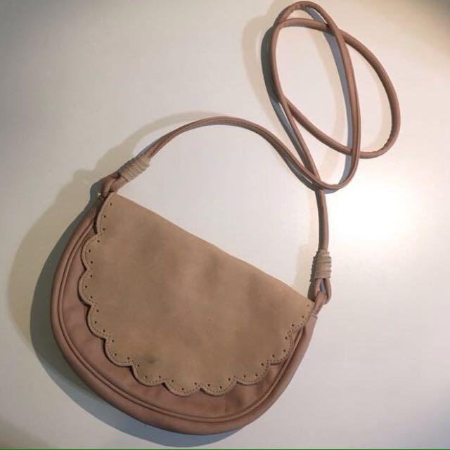 American Eagle Pink Scallop Crossbody Bag