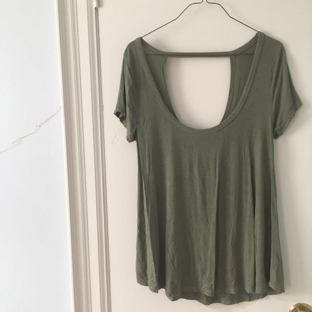 American Eagle Soft Open-Back Tee