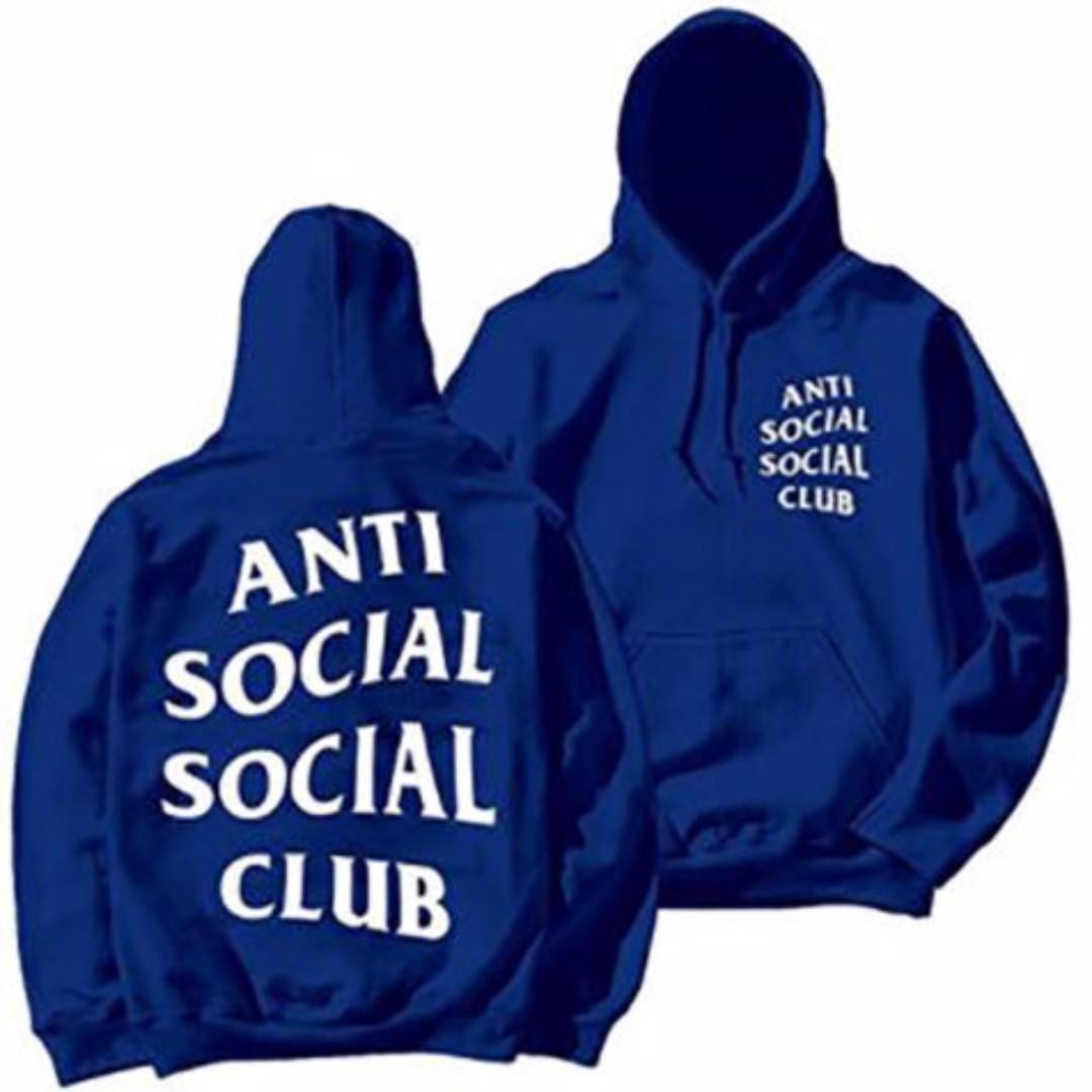 Anti Social Social Club Paranoid Hoodie Kanye Sweatshirts Mens Womens Jumper Hat Blue