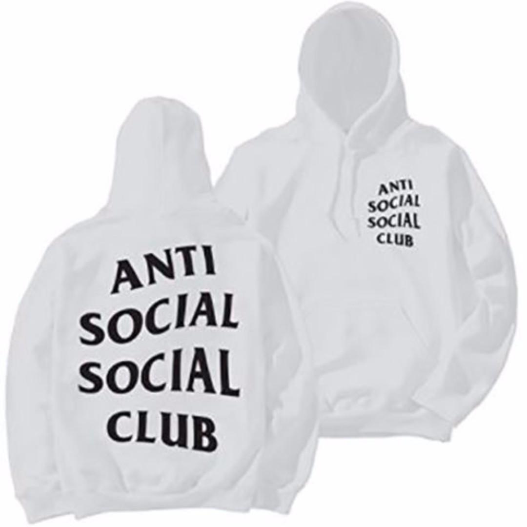 Anti Social Social Club Paranoid Hoodie Kanye Sweatshirts Mens Womens Jumper Hat White
