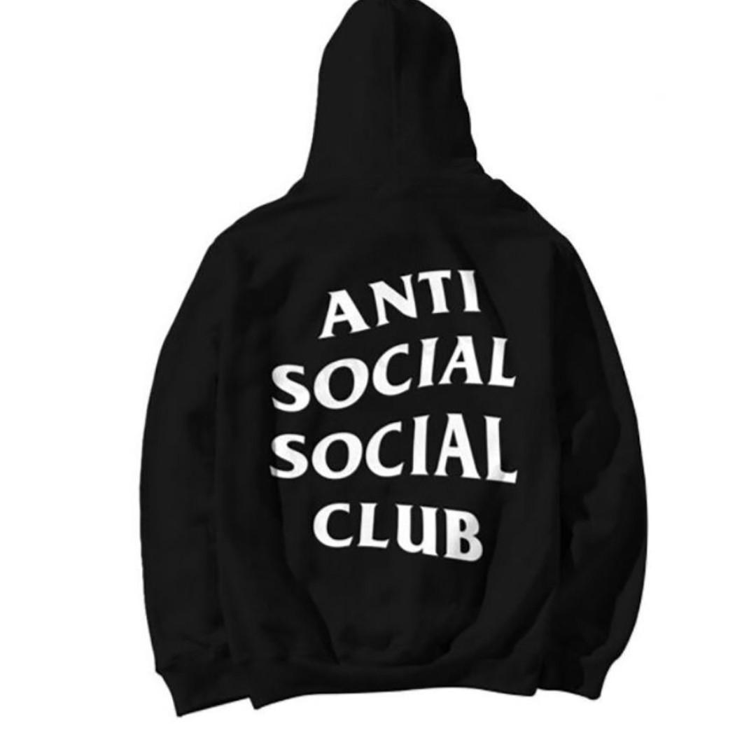 Anti Social Social Club Paranoid Hoodie Kanye Sweatshirts Mens Womens Top Jumper Black