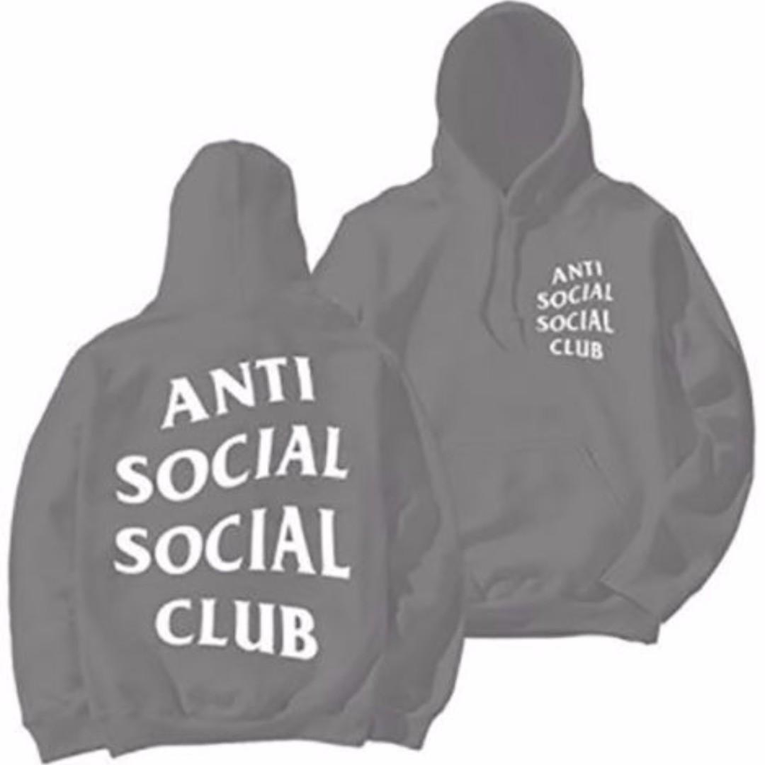 Anti Social Social Club Paranoid Hoodie Kanye Sweatshirts Mens Womens Top Jumper Grey