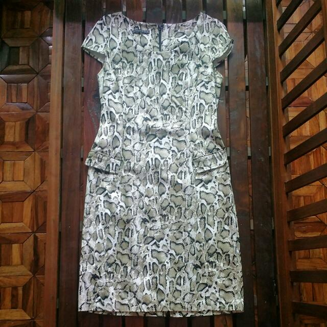 💖ATMOSPHERE SNAKESKIN DRESS