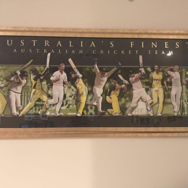 Australian Cricket Team Painting( Memorabilia)