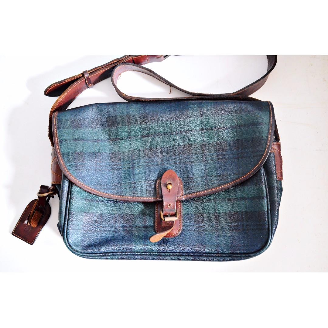 c130155f27ba From 14k Authentic POLO Ralph Lauren RL Vintage Satchel Sling ...