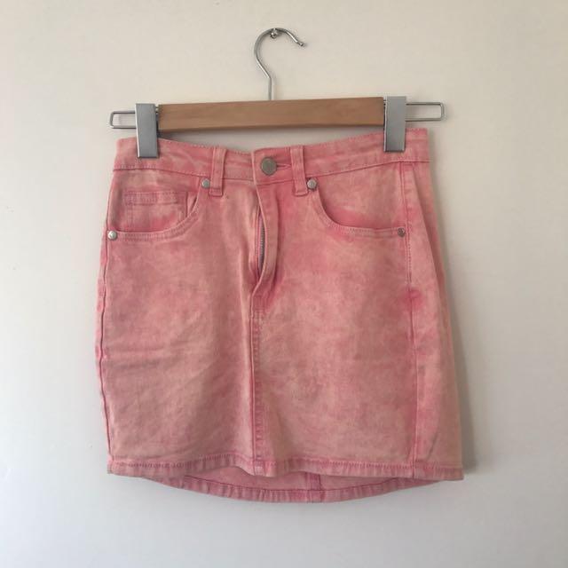 Ava + Ever Pink Denim Skirt