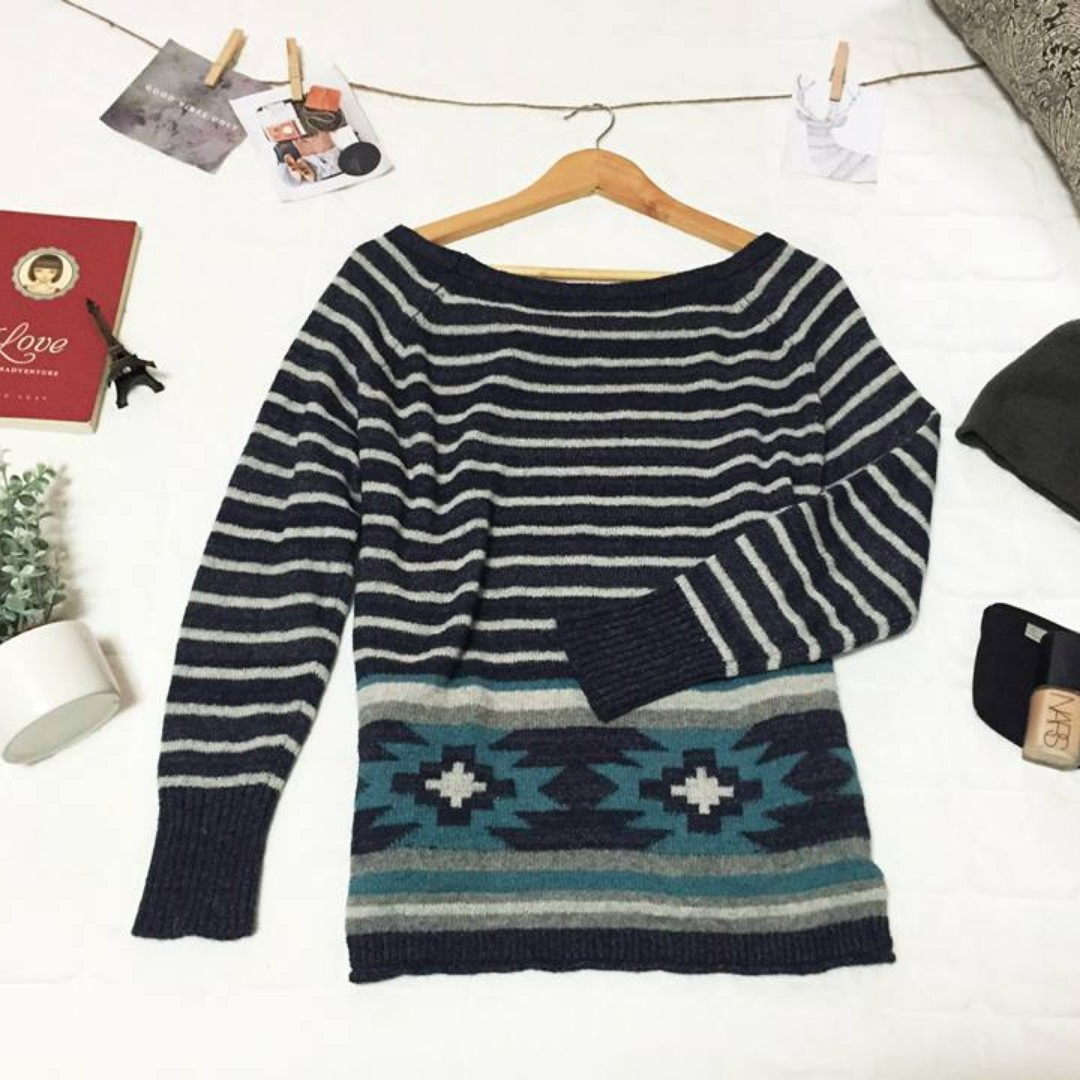 Aztec Knitted Sweater Pullover