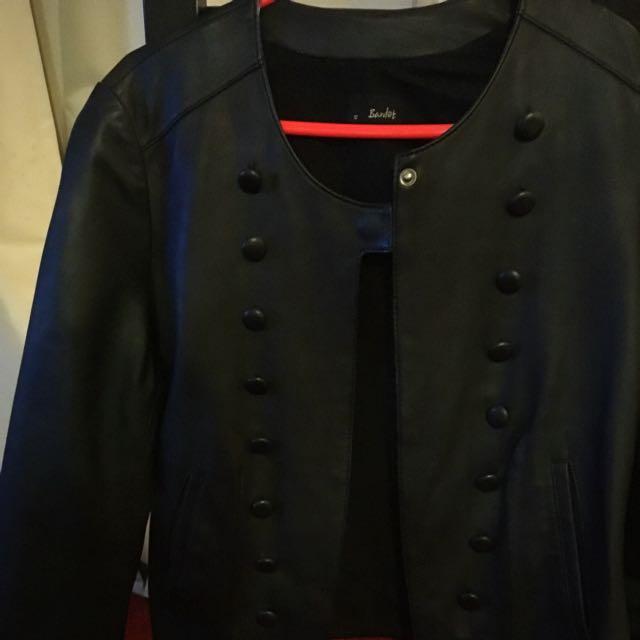 Bardot Leather Crop Jacket