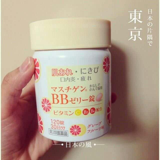 日本製-口服果凍BB錠 120顆…a(維他命C B2 B6 補充)