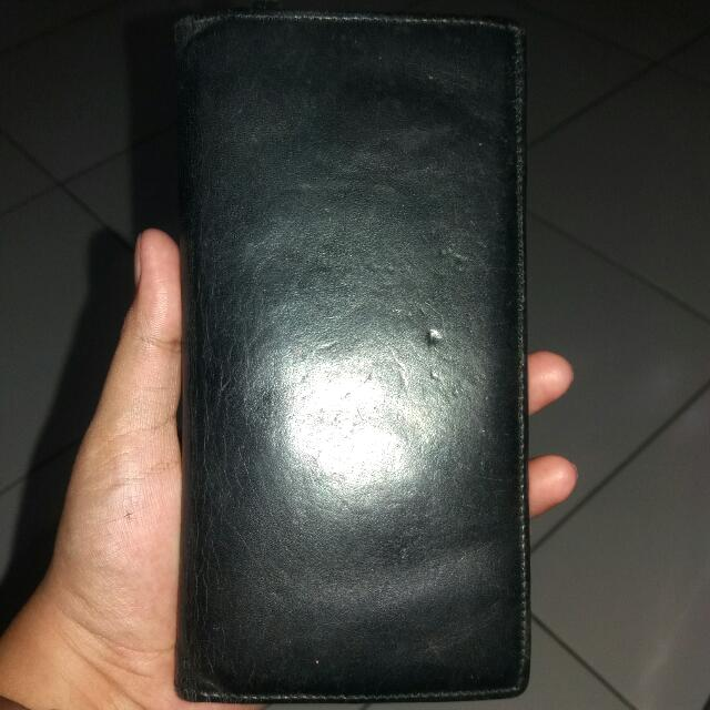 BLACK WALLET REAL LEATHER