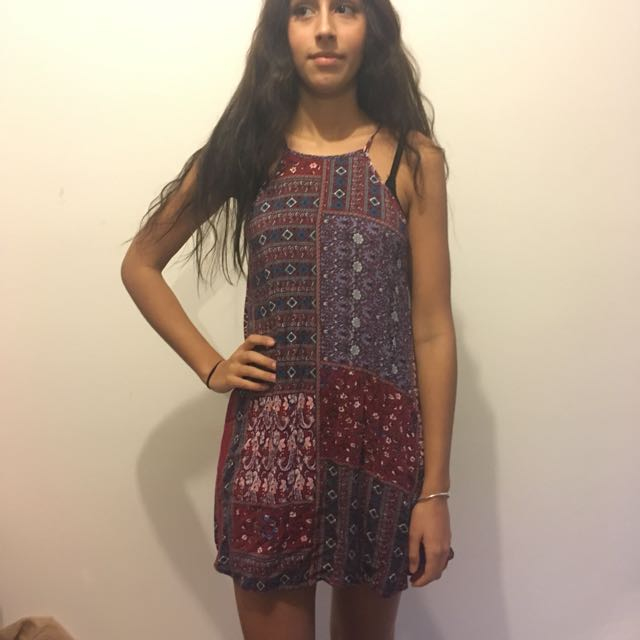 Boho Paisley Slip Dress