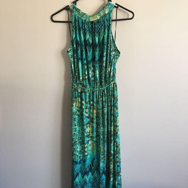 Brand New Blue/Green Maxi Dress