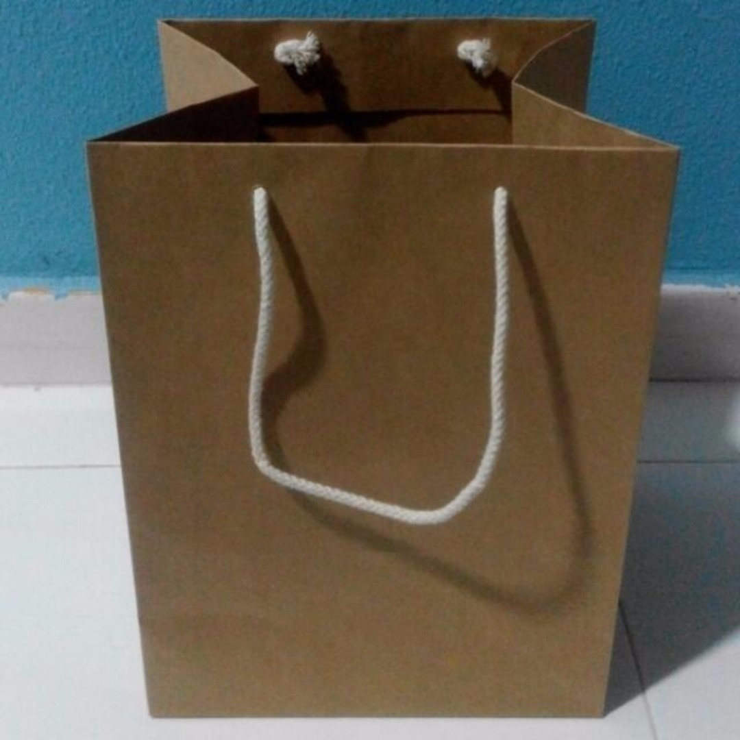 Brand New Brown Kraft Paper Bags (Thick GSM with strong handle strings)
