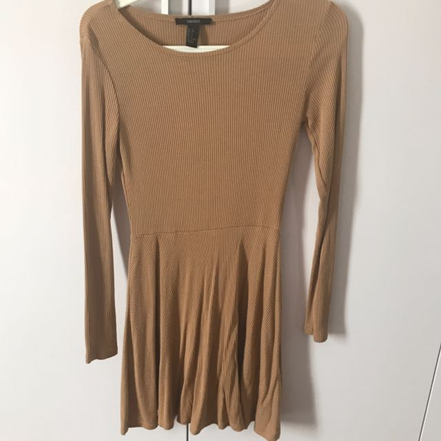 Brown Nude Forever 21 Dress