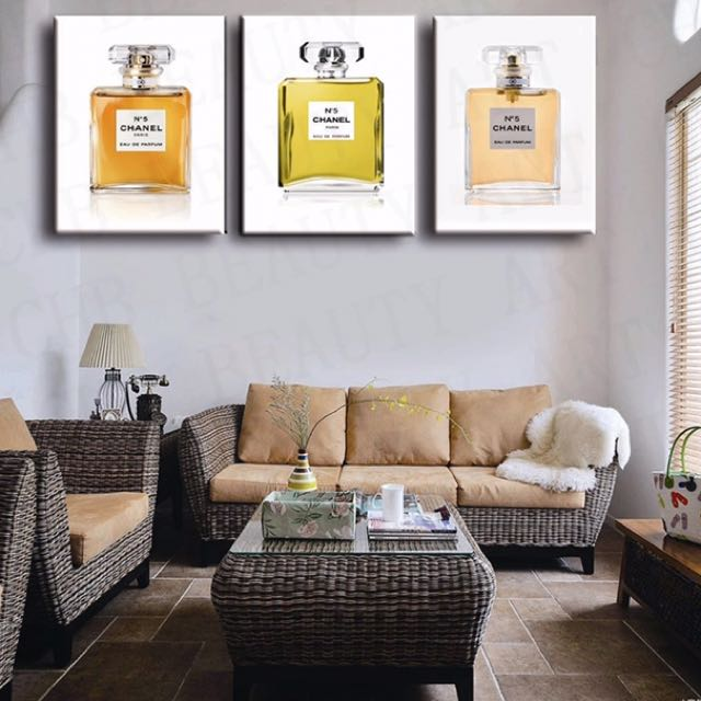 Chanel No.5 Set of 3 Canvas Prints