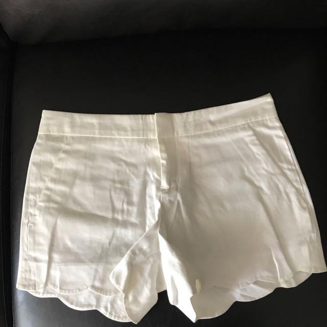Club Monaco Scalloped Shorts