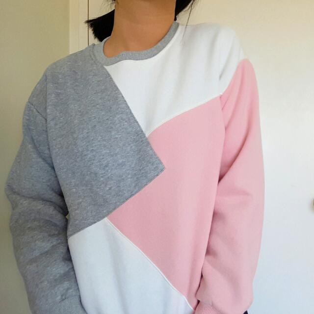 color block sweatshirt 💐