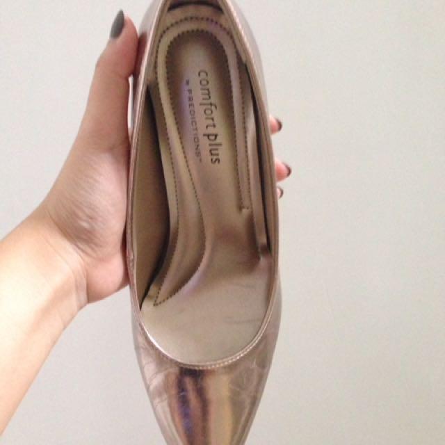 Comfort Plus Silver Heels