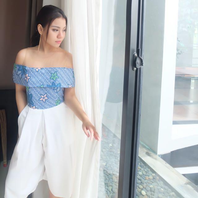 Corry Batik Dress Blue
