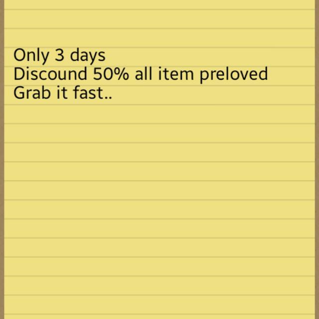 Disc 50% All Item