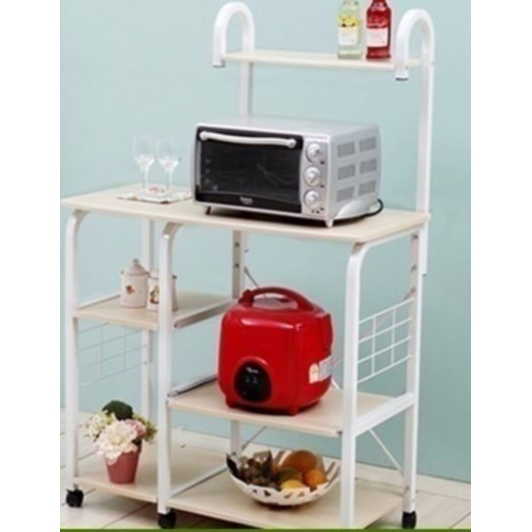 Dual Microwave Oven Shelve, Microwave Rack Stand, Kitchen Organizer ...