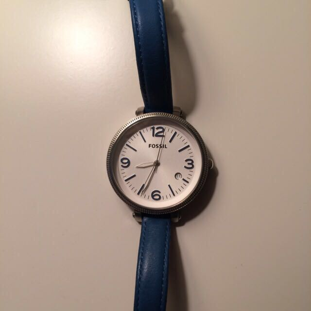 Fossil Watch With Blue Strap