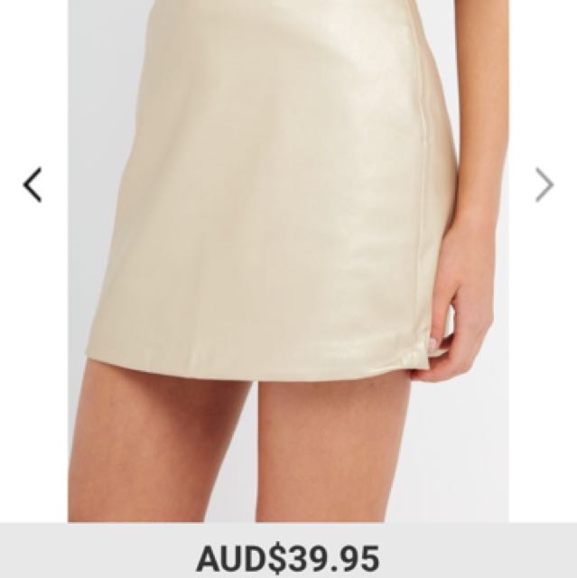 Gold Skirt From Factorie