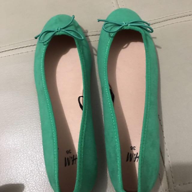 H&M flats (green)
