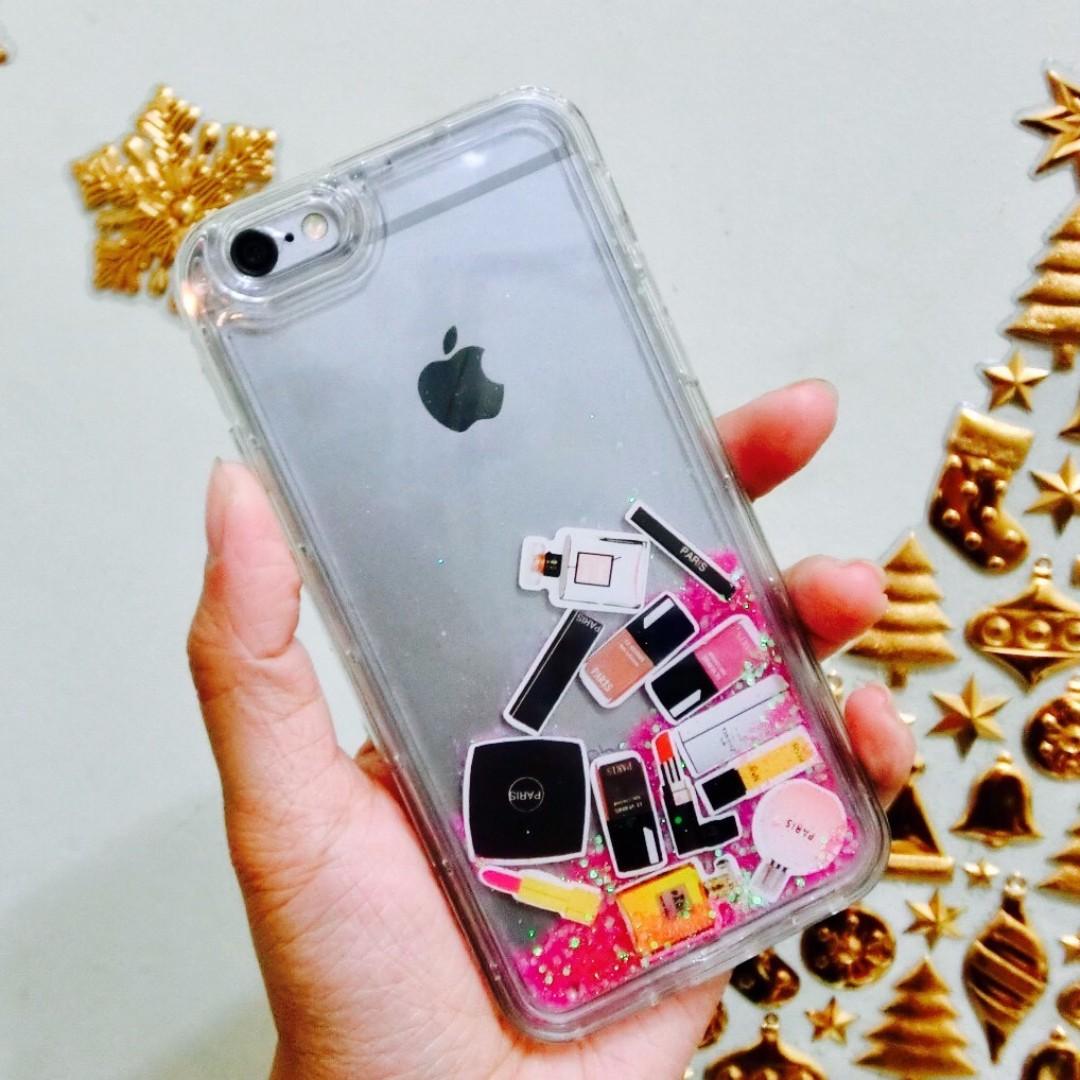 免運-iphone6/6s香奈兒化妝品流沙手機殼(軟殼)