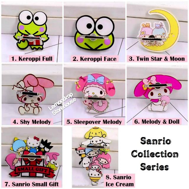 Iring Stand Ring Stent Holder Sanrio Collection Penyangga Cincin Hp My MelodyLittle Twin Stars Star Keroppi Cartoon Kartun Lucu Imut