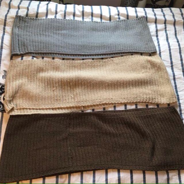 Knit Circle Scarves