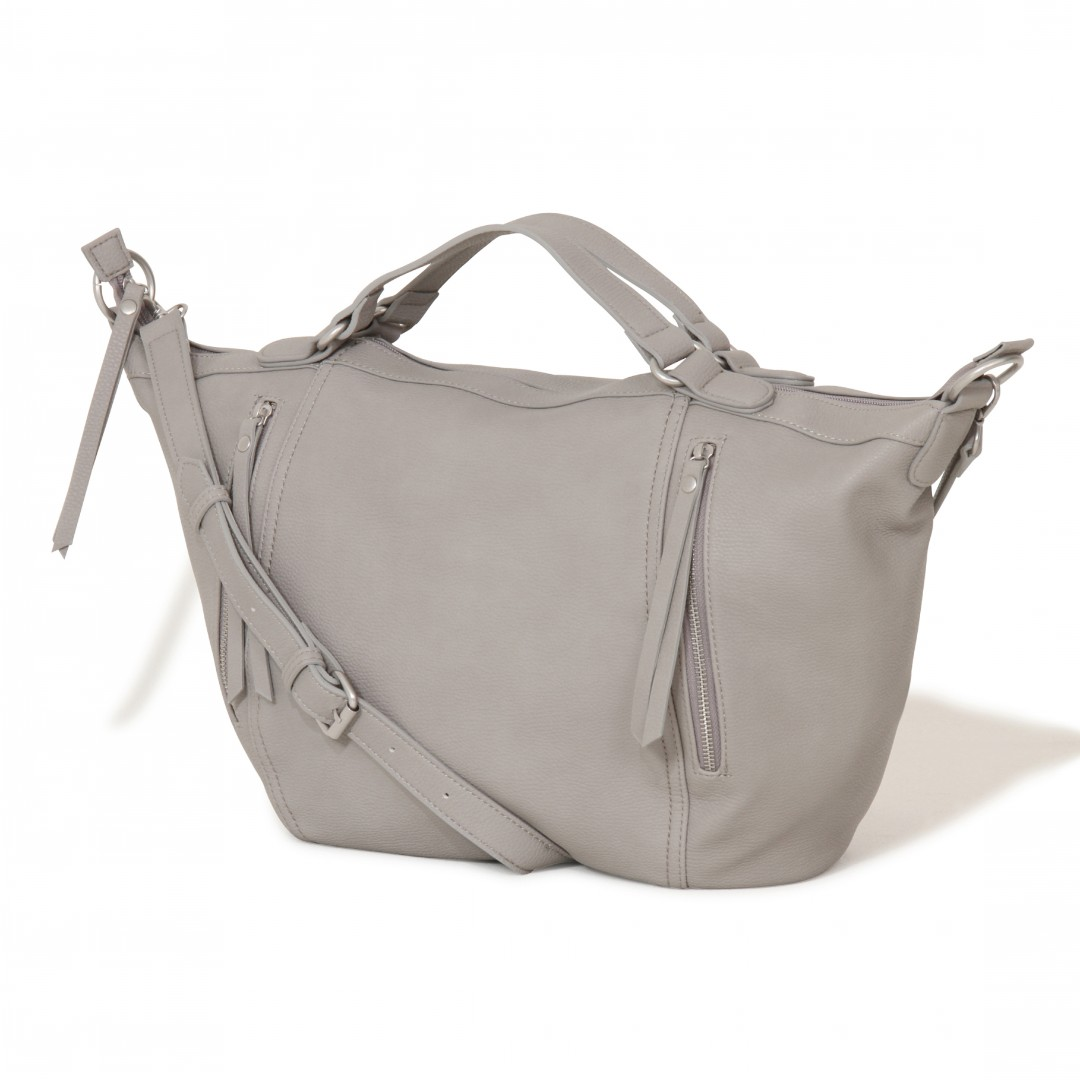 Lavish Alice Dove Grey Zip Detail Oversized Bag