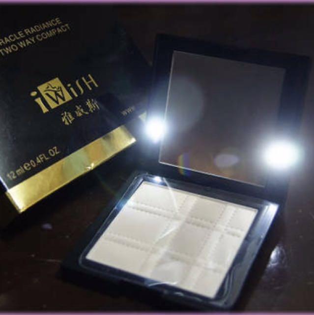全新Led燈粉餅 蜜粉餅 雅威斯 I wisH 台灣品牌