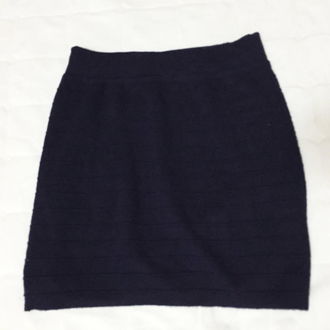Navy Blue Bandage Skirt