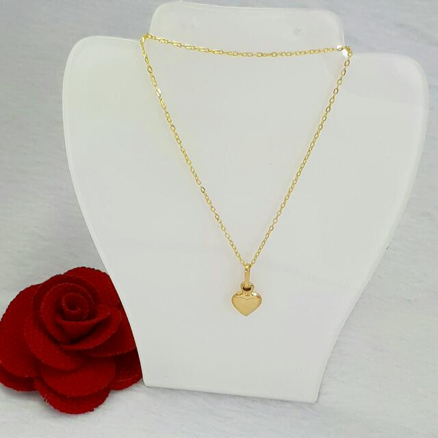 Necklace Heart Pendant Saudi Gold Women S Fashion Jewelry On Carousell