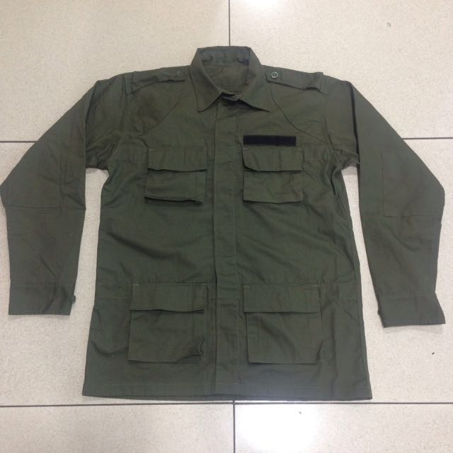 0e79b37b2 Original Vintage 4 Pocket Military Militia Army Green Lightweight Surplus  Motorcycle Jacket For Cafe Bikers Vespa Scooter Rider Size M-L