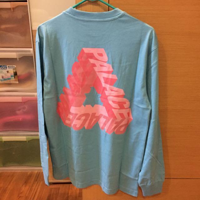 6f7aaf5bda1b Palace P-3D Long sleeve Aqua Blue