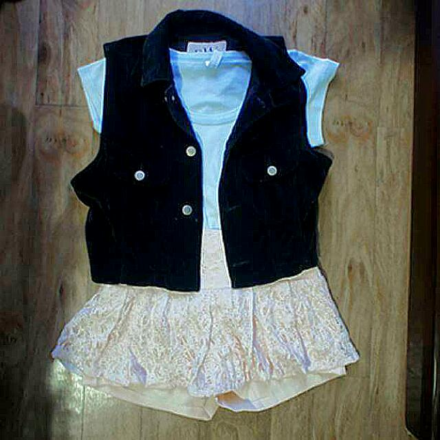 Pastel SET (jacket, shirt, skort)